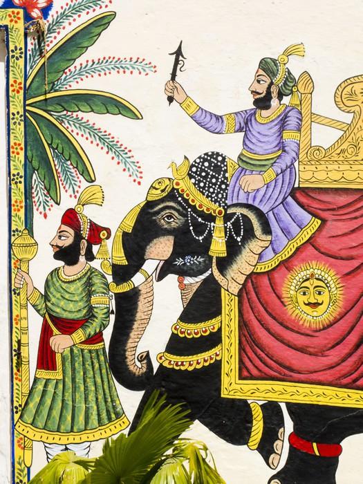 sticker peinture d 39 un l phant royal noir rajasthan inde pixers nous vivons pour changer. Black Bedroom Furniture Sets. Home Design Ideas