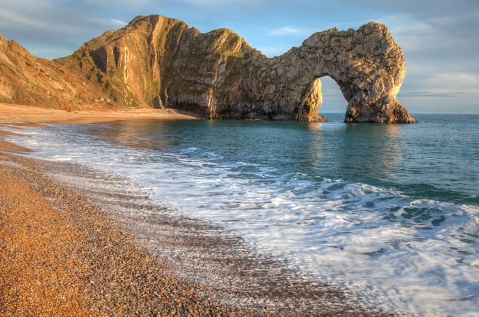 Vinylová Tapeta Durdle Dor skalní oblouk Dorset Anglie - Voda