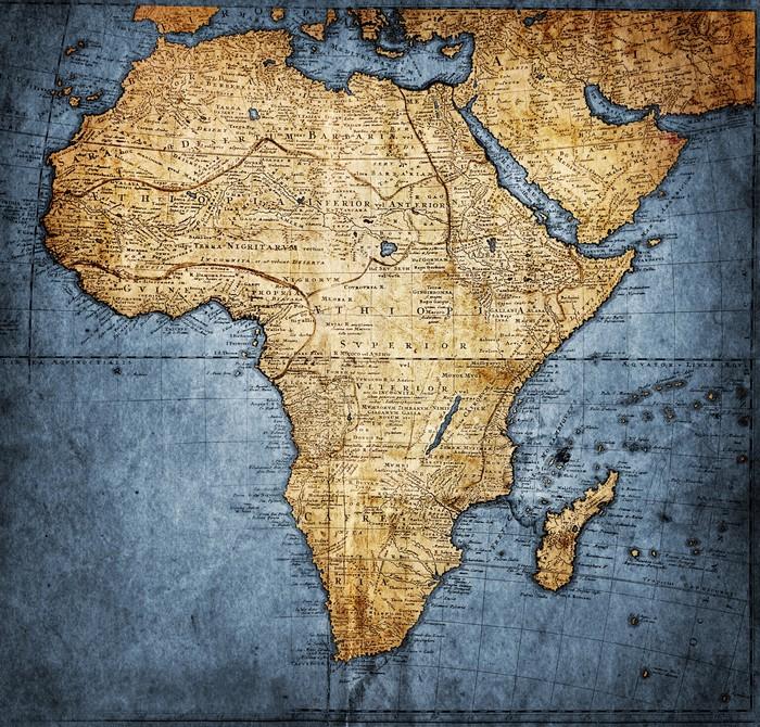 fototapete vintage karte afrika pixers wir leben um zu ver ndern. Black Bedroom Furniture Sets. Home Design Ideas