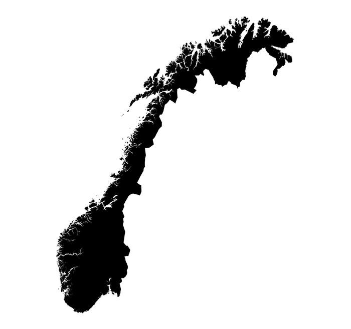 Vinylová Tapeta Mapa Norska - Doplňky a věci
