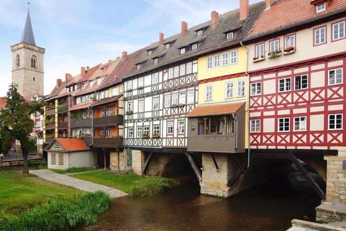 Papier Peint Pont De Marchands Erfurt Allemagne Pixers Nous