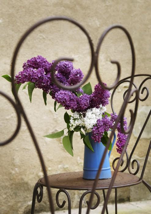 Vinylová Tapeta Lilac Bouquet - Domov a zahrada