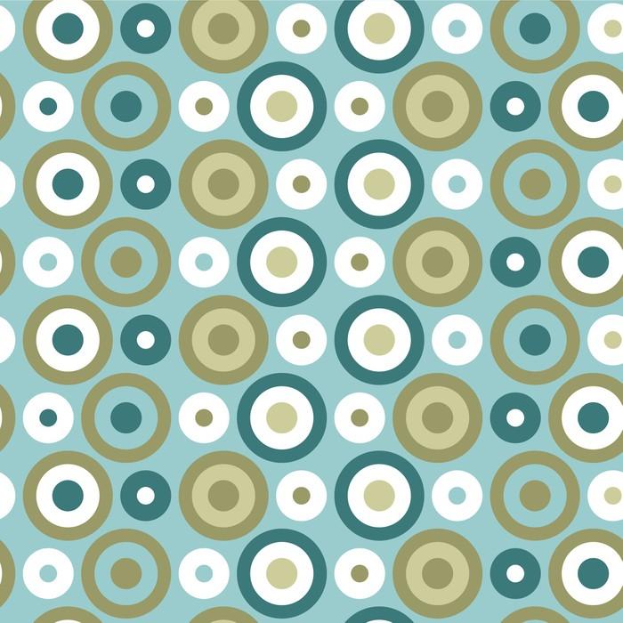 Vinylová Tapeta Abstraktní bezešvé vzor s kruhy - Pozadí