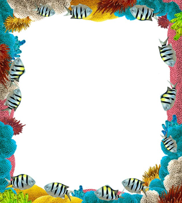 The Coral Reef Frame Border Wall Mural Pixers 174 We