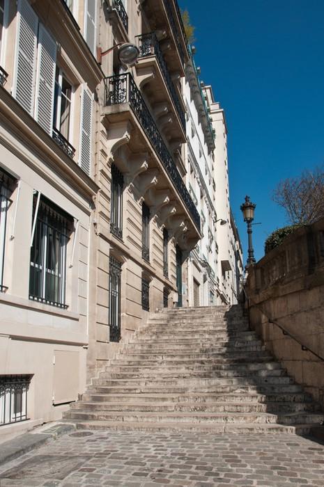 Vinylová Tapeta Escaliers do Paříže - Evropská města