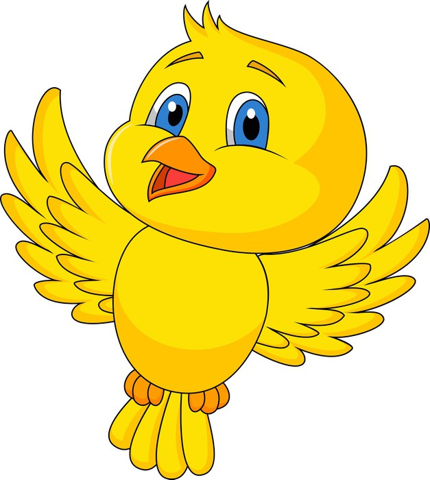 Cute bird flying Wall Mural • Pixers® • We live to change