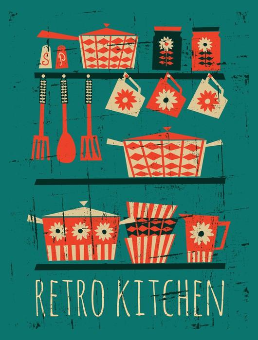 Sticker retro poster van de keuken pixers we leven om - Carteles de cocina ...