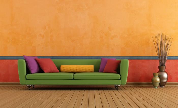 Aufkleber Grün Rot Und Orange Wohnzimmer   Pixerstick