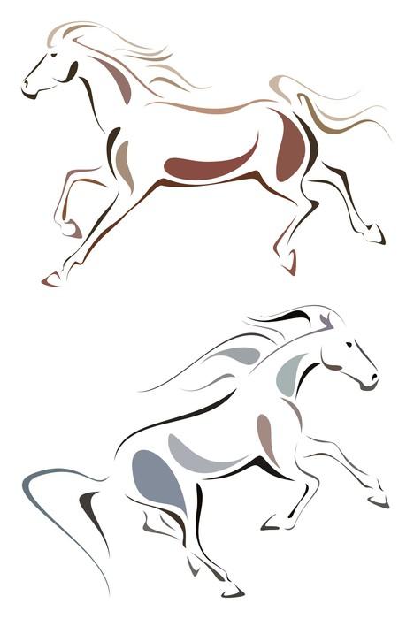 Carta da parati cavalli stilizzati pixers viviamo per for Cavallo stilizzato