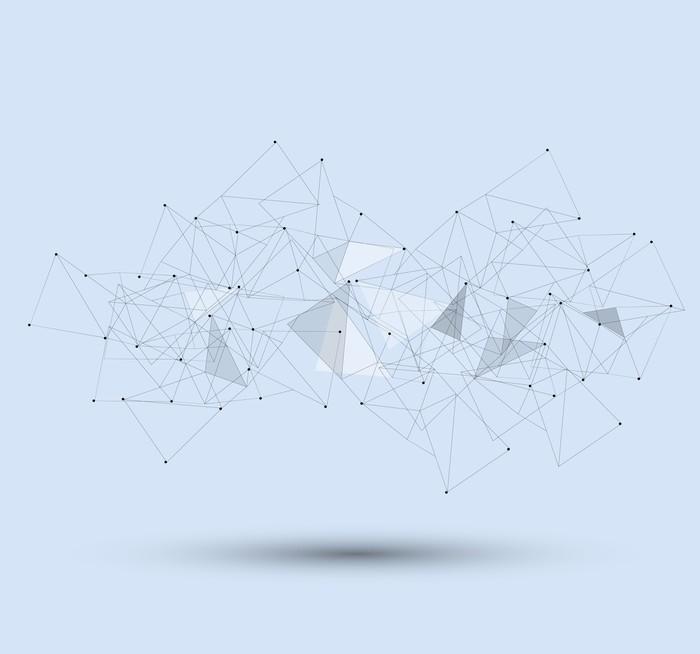 Papier Peint Vinyle Futuriste fondu ordinateur technologie de base de l'entreprise - Styles