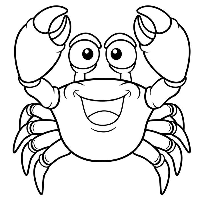 Fotomural Ilustración del vector del cangrejo de dibujos animados ...