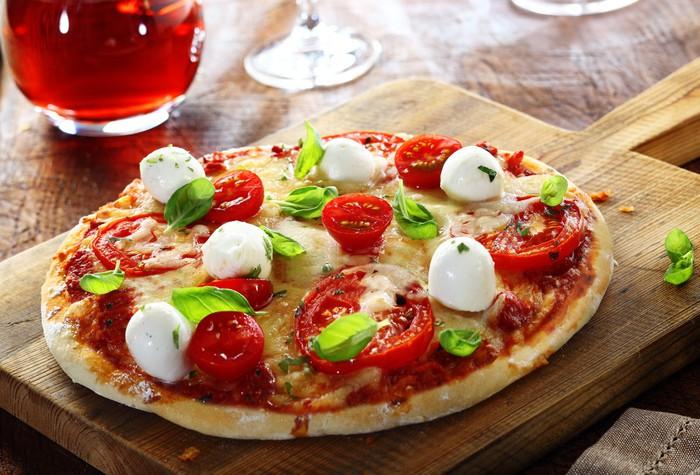 carta da parati deliziosa fatta in casa pizza italiana