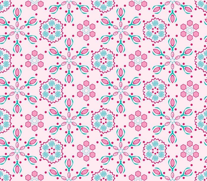 Vinylová Tapeta Bezešvé vzor s růžovým pozadím - Móda