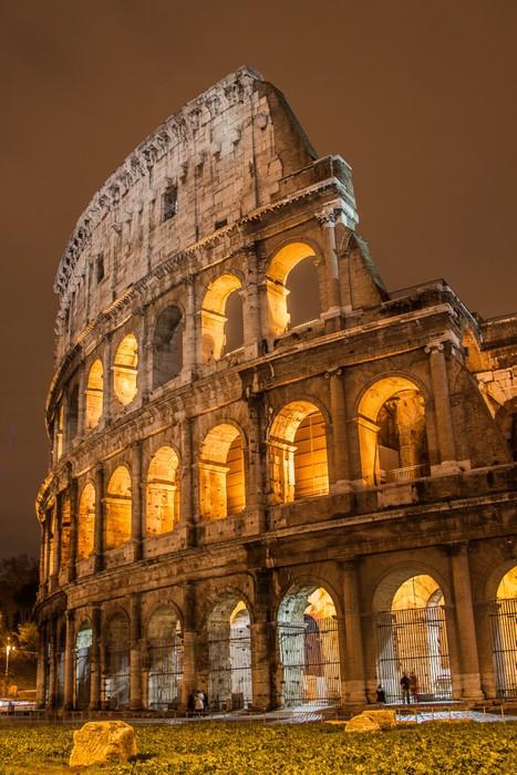 Carta da parati colosseo a roma italia pixers for Carta da parati roma