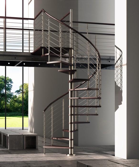 fototapete wendeltreppe aus holz und metall pixers. Black Bedroom Furniture Sets. Home Design Ideas