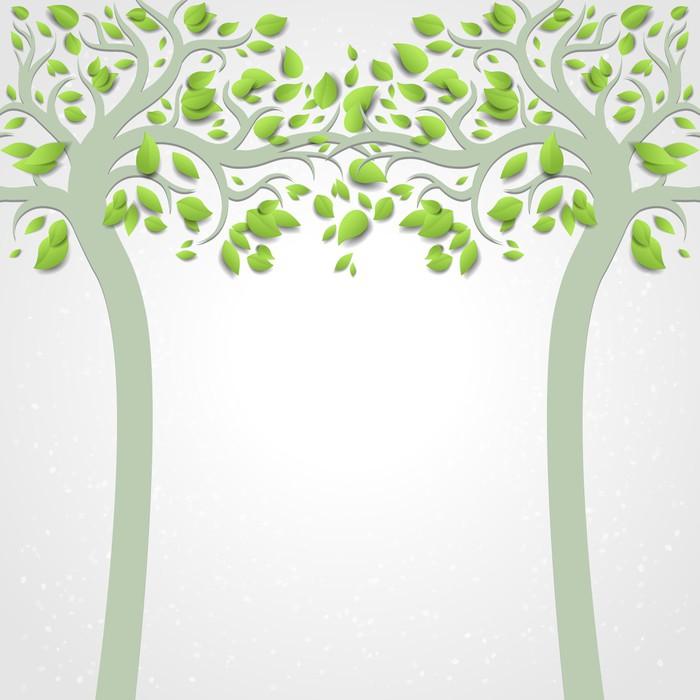 Papier peint motifs arbres abstrait pixers nous - Papier peint motif arbres ...