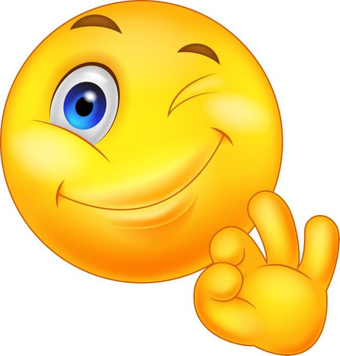 Sticker motic ne avec le signe ok pixers nous vivons pour changer - Emoticone kawaii ...