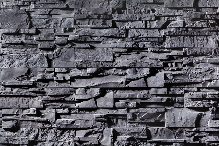 papier peint texture de mur en pierre gris pixers nous vivons pour changer. Black Bedroom Furniture Sets. Home Design Ideas
