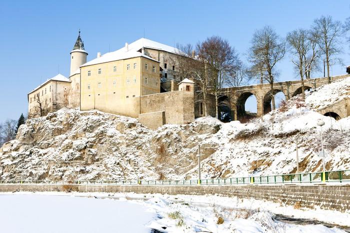 Vinylová Tapeta Ledeč nad Sázavou Hrad v zimě, Česká republika - Evropa