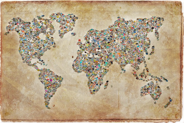 carte du monde photos texture vintage wall mural pixers 174 we live to change