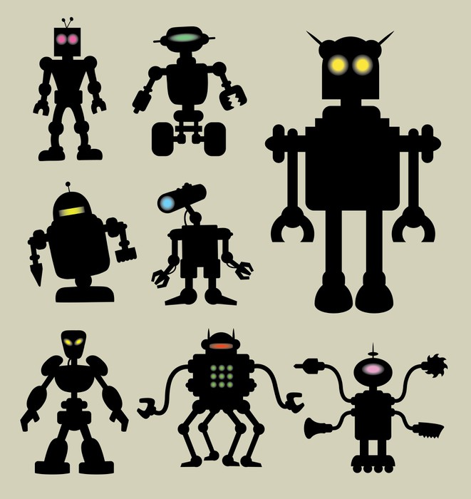 Vinylová Tapeta Robot Siluety 1 - Osud