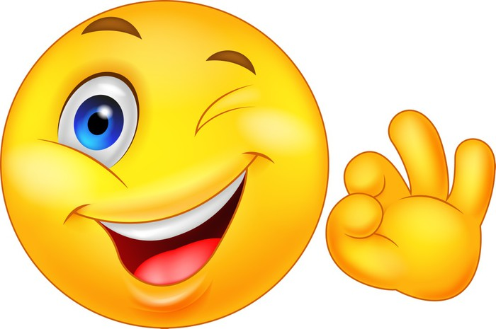 Smiley Emoticon With Ok Sign Wall Mural Pixers 174 We