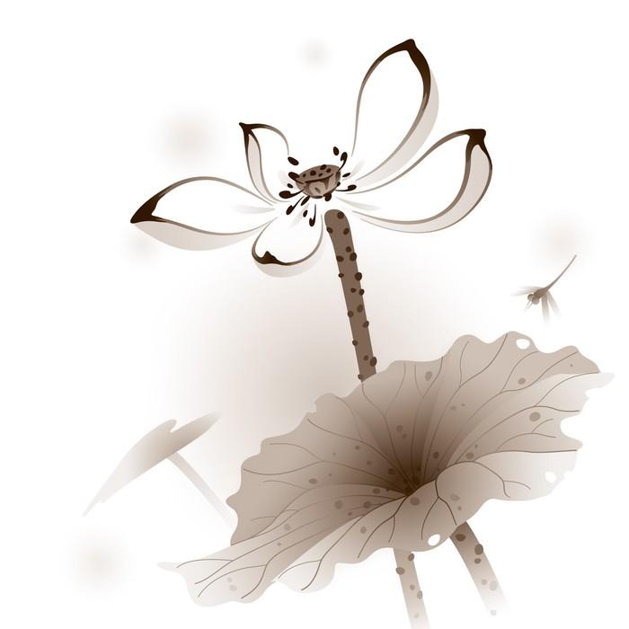 Vinylová Tapeta Orientální styl Lotus - Květiny