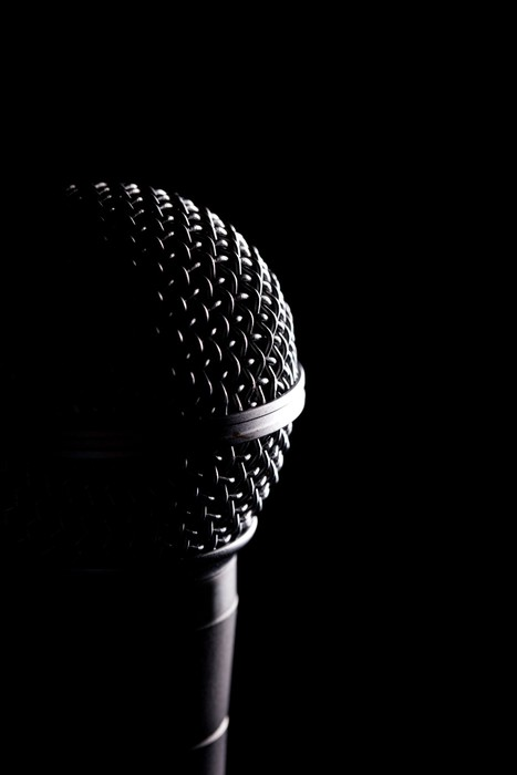 Vinylová Tapeta Black Mikrofony Head In Detail - Svoboda