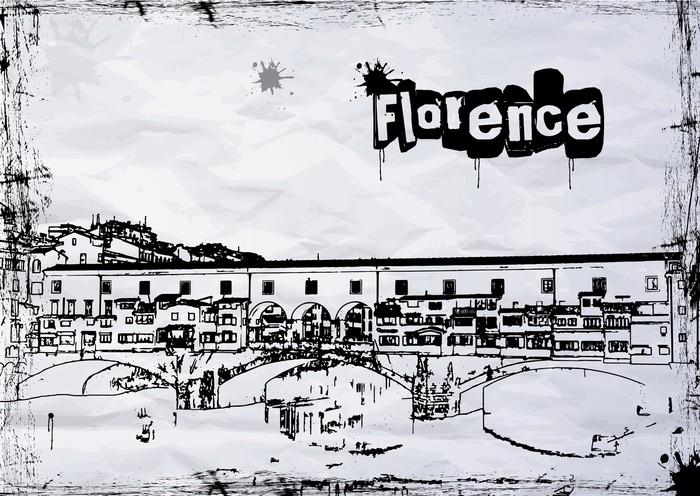Vinylová Tapeta Ponte Vecchio - Evropa