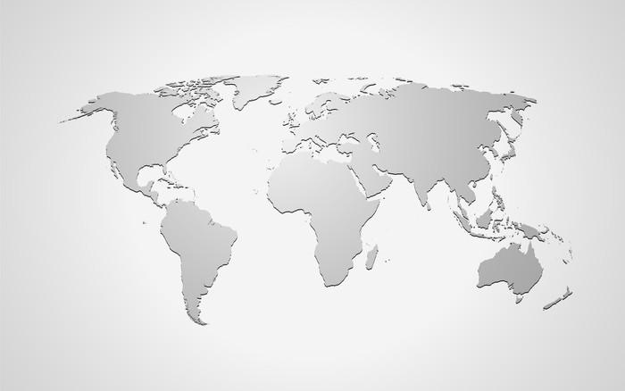 weltkarte grau Landkarte *** Weltkarte Grau Wall Mural • Pixers® • We live to change weltkarte grau