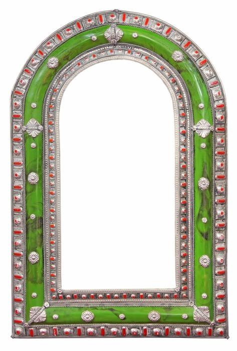 papier peint cadre de miroir vert pixers nous vivons pour changer. Black Bedroom Furniture Sets. Home Design Ideas