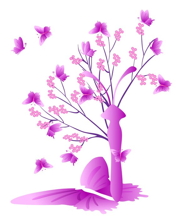 tableau sur toile arbre avec papillon pixers nous vivons pour changer. Black Bedroom Furniture Sets. Home Design Ideas