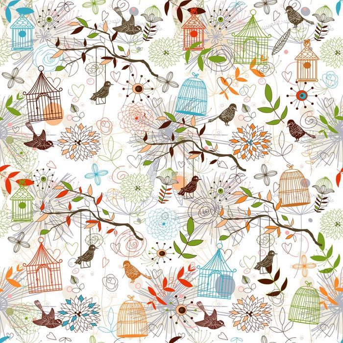 papier peint motif oiseaux pixers nous vivons pour changer. Black Bedroom Furniture Sets. Home Design Ideas
