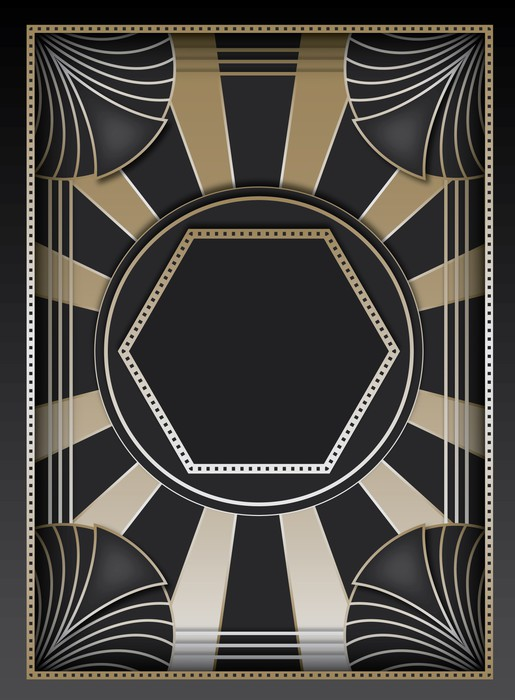 Art Deco Background And Frame Wall Mural   Vinyl Part 84