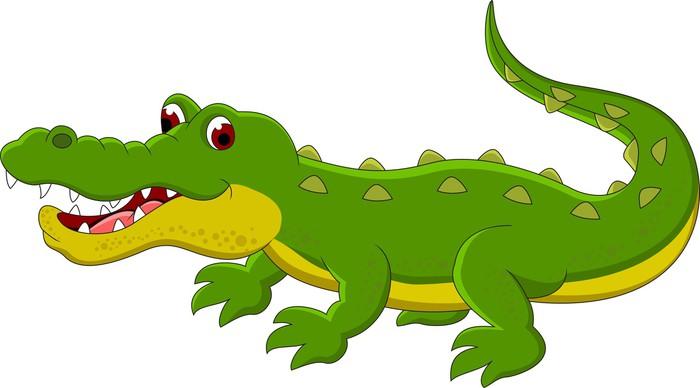 Cuadro en lienzo cocodrilo de dibujos animados pixers vivimos para cambiar - Dessin anime de crocodile ...