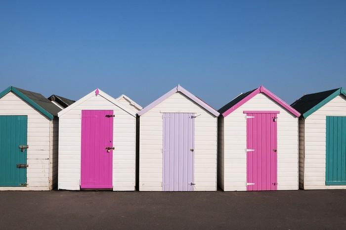Vinylová fototapeta Barevné Beach chaty, Paignton, Velká Británie. - Vinylová fototapeta