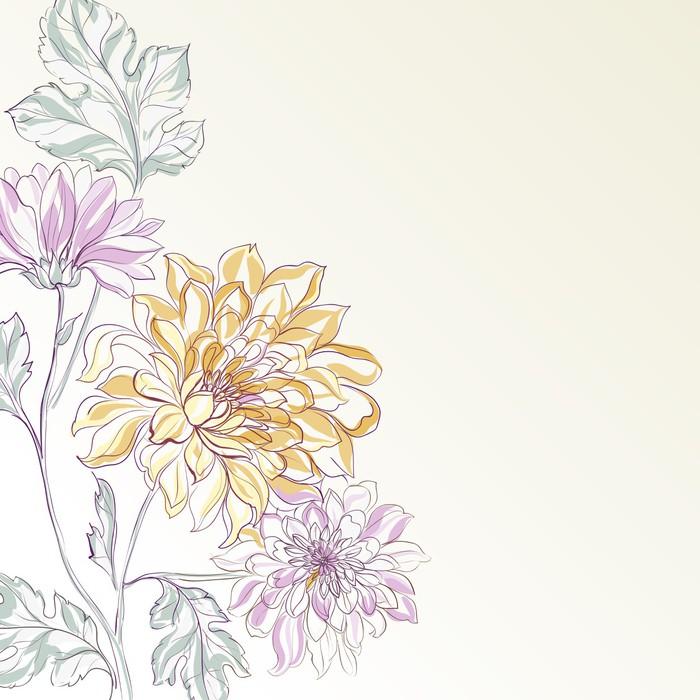 Vinylová Tapeta Obor Chrysanthemum - Květiny