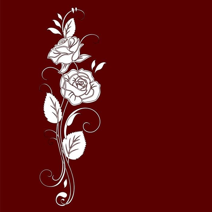 Vinylová Tapeta Floral greeting card, abstraktní, pozadí !! - Pozadí