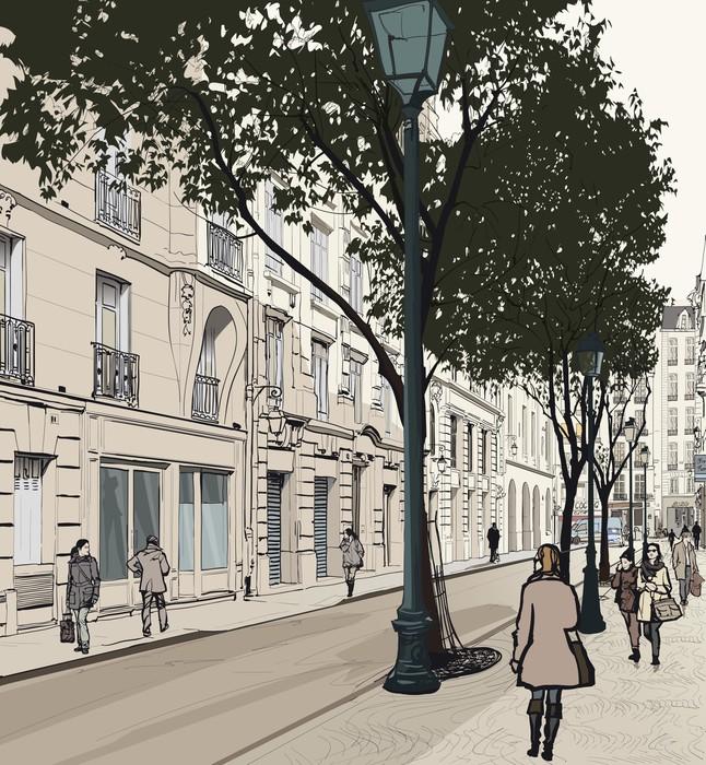 Papier Peint Vinyle Montmartre à Paris - Thèmes