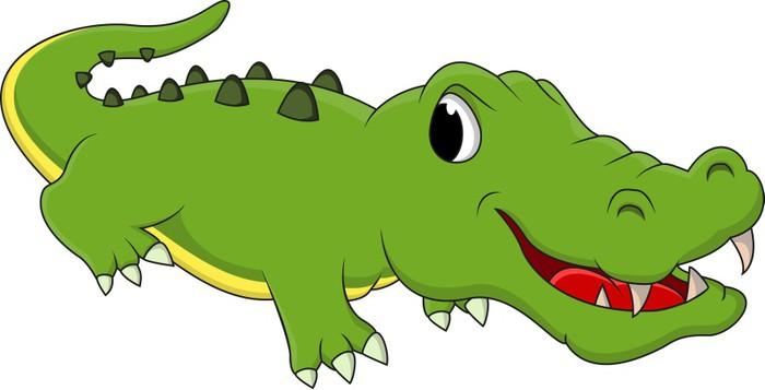 Poster nettes krokodil cartoon pixers wir leben um - Krokodil wandtattoo ...