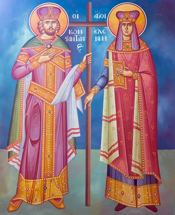 Vinylová Tapeta Saint Constantine a Helen freska z řecké pravoslavné církve - Náboženství