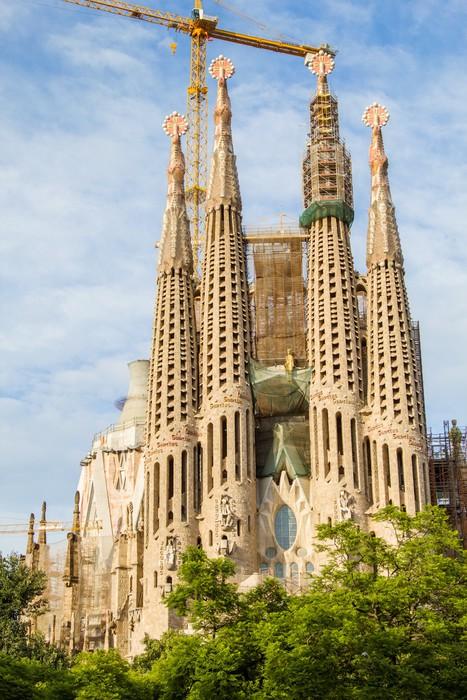 Vinylová Tapeta Slavná katedrála Sagrada Familia fasáda ve španělské Barceloně. - Témata