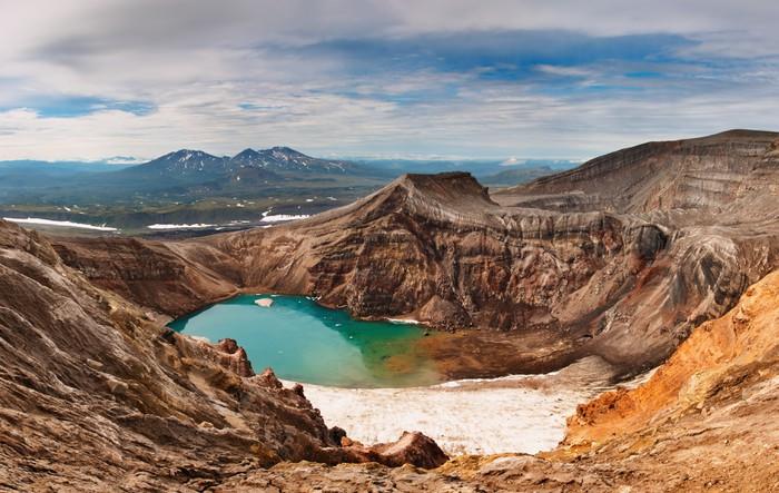 Vinylová Tapeta Jezero kyseliny v sopečný kráter - Hory