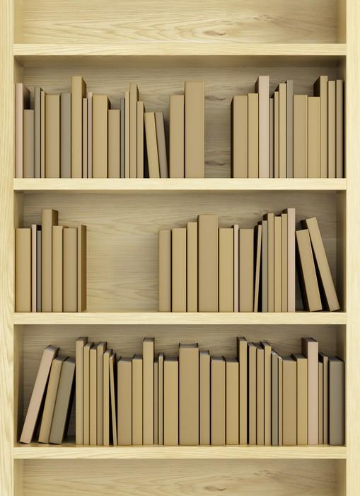 Fotobehang Boekenkast met boeken • Pixers® - We leven om te veranderen