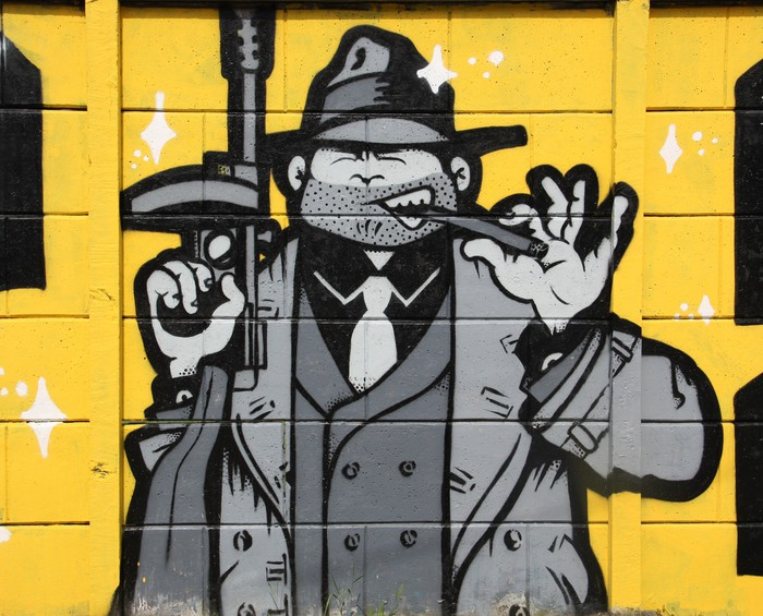 Gangster Wall Mural • Pixers® • We live to change
