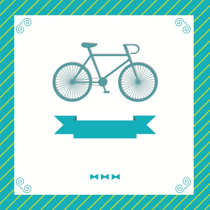 Vinylová Tapeta Blahopřání s kole - Slavnosti