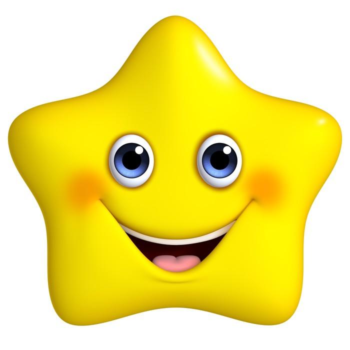 Fotomural Estrella Amarilla De Dibujos Animados 3d Pixers 174 Vivimos Para Cambiar