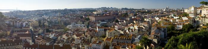 Vinylová Tapeta Panoramatický pohled na město Lisabon - Evropská města