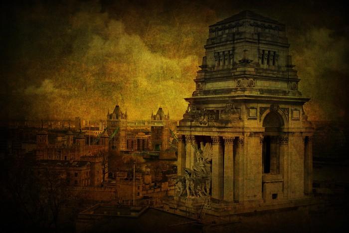 Vinylová Tapeta Old London - Soukromé budovy