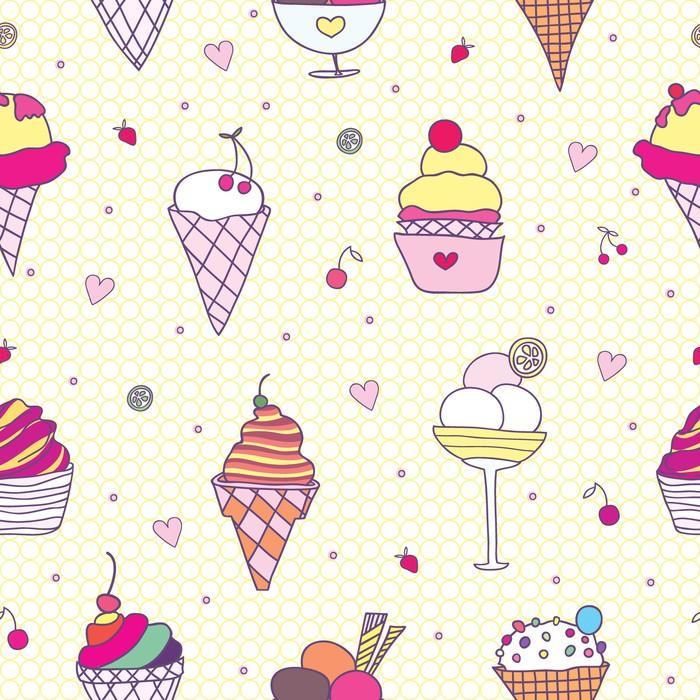 Vinylová Tapeta Vzor zmrzlina - Štěstí